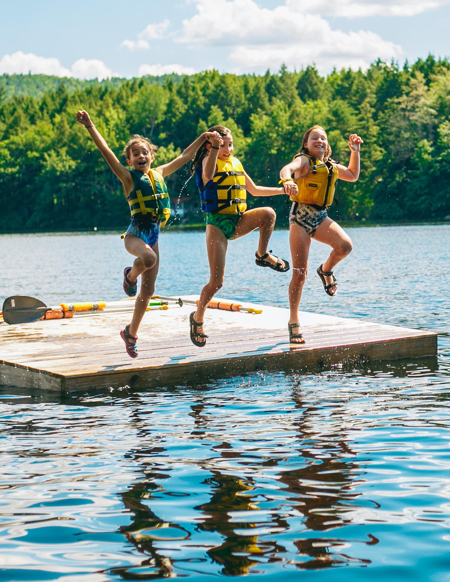 camp walden girls swimming